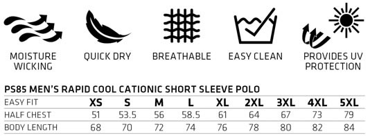 PS85-POLO-SIZECHART