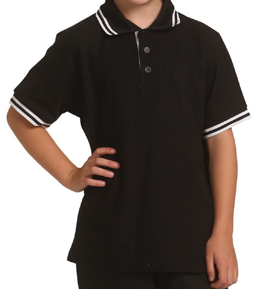 Black/White Kids Grace Polo