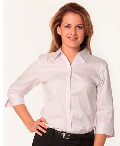 Women's Self Stripe 3/4 sl Shirt