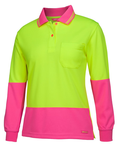 Hi Vis Ladies L/S Comfort Polo