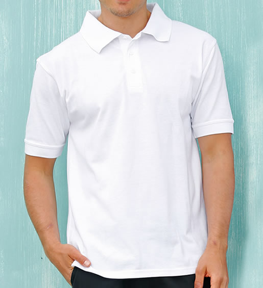 MENS DELUXE POLO - White