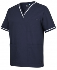 Mens Contrast Scrubs Top NAVY/WHITE