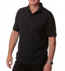 MENS DELUXE POLO - Black