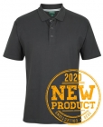 Mens Cotton Jersey Polo - Gunmetal