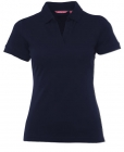 Ladies Spandex V-Neck Polo Black
