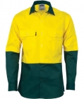 Lightweight Hi Vis Work Shirt Long Sleeve