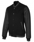 Mens Art Leather Baseball Jacket