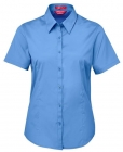 Ladies Urban S/S Poplin Shirt French Blue