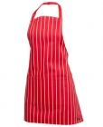 Short Striped Bib Apron with Pocket