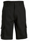 Mercerised Multi Pocket Shorts Black