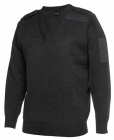 Mens Knitted Epaulette Jumper