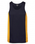 Adults Poly Contrast Singlet Navy/Gold