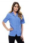 Ladies S/S Oasis Over Blouse - Mid Blue