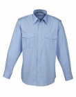 Mens Epaulette L/S Shirt Blue