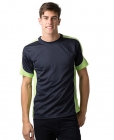 Mens Cool Dry Contrast Tee Navy/Lime