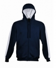 ADULTS CONTRAST FLEECE Navy/White