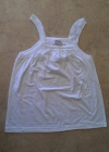 Ladies Multi Pleat Singlet White