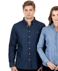 Mens Dylan Long Sleeve Denim Shirt
