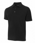Mens Pique Polo Black