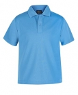 Kids Poly Polo Aqua