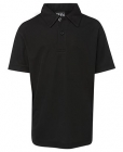 Kids Poly Polo Black