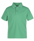 Kids Poly Polo Kelly Green
