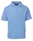 Kids Poly Polo Lt Blue