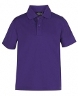 Kids Poly Polo Purple
