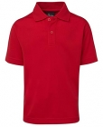 Kids Poly Polo Red