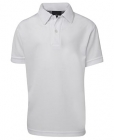 Kids Poly Polo White