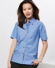 Ladies Wrinkle Free Chambray S/S Shirt