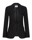 Ladies Shaped Mech Stretch Jacket Black