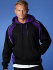 Mens Huxley Hoodie Black/Purple/White