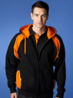 Mens Panorama Hoodie Black/Orange/White