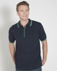 Mens Contrast Polo