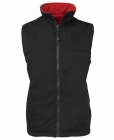 Mens Reversible Vest Black/Red