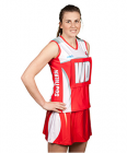Netball Sublimated V-Neck Sleeveless Top with Side Panels