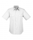 Mens Epaulette S/S Shirt white