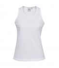 Ladies Sprint Singlet White
