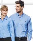 Mens Wrinkle Free Chambray L/S Shirt