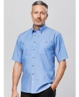 Mens Wrinkle Free Chambray S/S Shirt