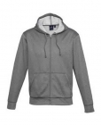 Adults Mens Hype Full-Zip Hoodie Grey