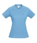 Ladies Sprint Tee Spring Blue