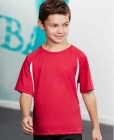 Kids Flash Sports Tee Red/White