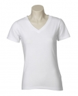 Ladies V-Neck Tee White