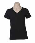 Ladies V-Neck Tee Black