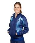 Sublimated Track Jacket Standup Collar Raglan Kangaroo Pockets